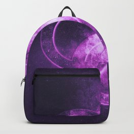 Male homosexuality symbol. Gay glyph. Doubled male sign. Abstract night sky background Backpack