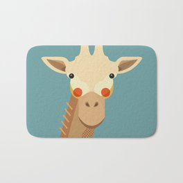 Giraffe, Animal Portrait Bath Mat