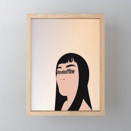 > o f f l i n e Framed Mini Art Print