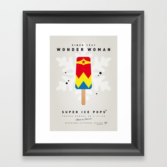 My SUPERHERO ICE POP - woman - No17 WONDER Framed Art Print