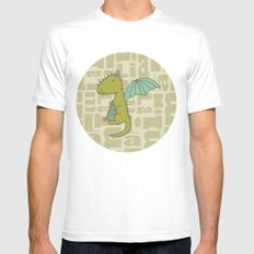 baby dragon liam MEDIUM White Mens Fitted Tee