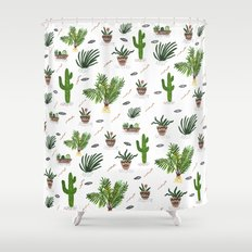 PLANTS ARE MY FRIENDS Shower Curtain