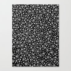 Flora Black Canvas Print
