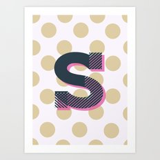S is for Sweet Art Print