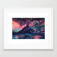 avatar the last airbender Framed Art Prints featuring The Lights by Alice X. Zhang