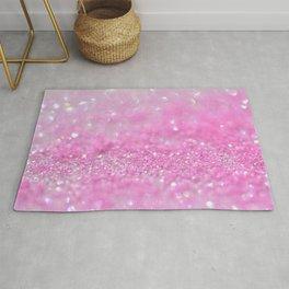 Sparkling Baby Girl Pink Glitter Effect Rug