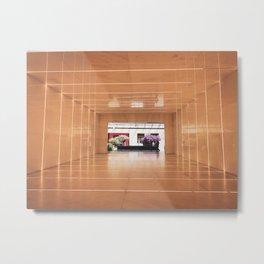 Through the Light Tunnel Metal Print