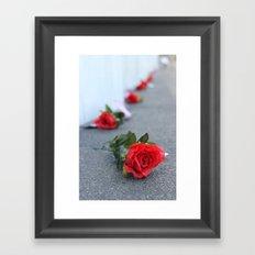 Flight 93 Memorial/Trail of Roses Framed Art Print