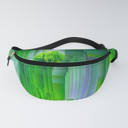 Nature Glitchin' - Abstract Pixel art Fanny Pack