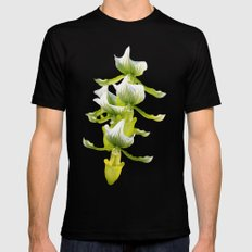 Green Orchid MEDIUM Black Mens Fitted Tee