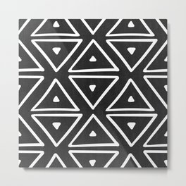 Big Triangles in Black and White Metal Print