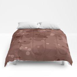 Cognac Bubble Dot Color Accent Comforters