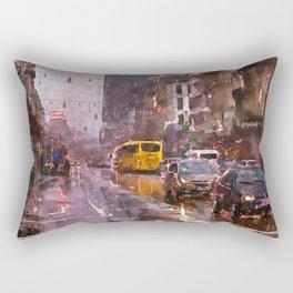 Rainy Day Traffic Rectangular Pillow