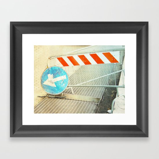 keep left Framed Art Print