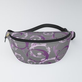 Abstract Bubbles purple pink Fanny Pack