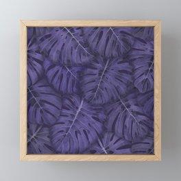 ULTRA VIOLET MONSTERA, by Frank-Joseph Framed Mini Art Print