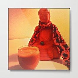 Carrots and Buddha Metal Print