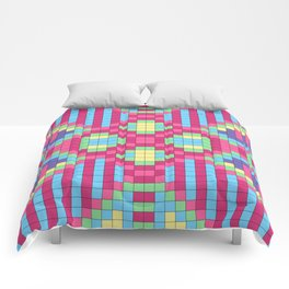 Checkerboard Squares Abstract Comforters