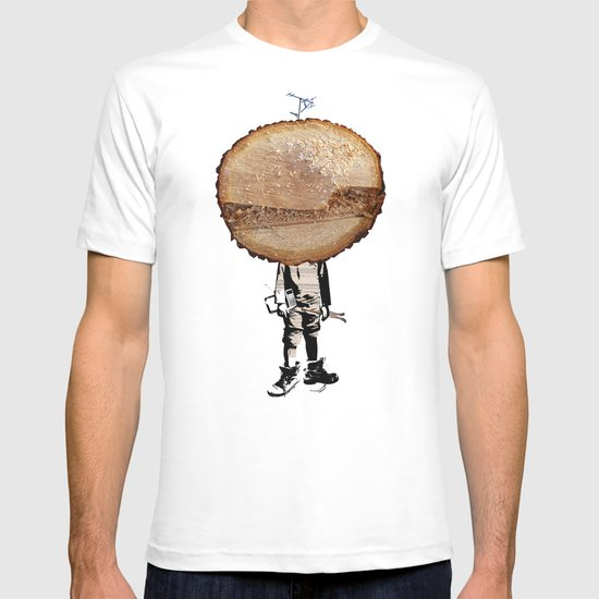 Wood Head Kid Collage T-shirt