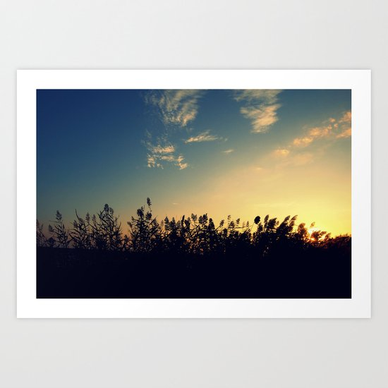 At Sunset Art Print