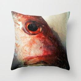 Fish Face Throw Pillow