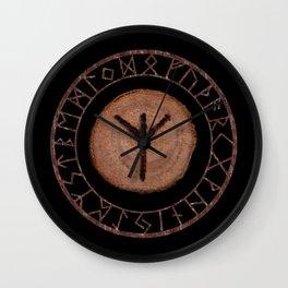 Algiz Elder Futhark Rune divinity, higher self, the state of listening, protective teaching force Wall Clock