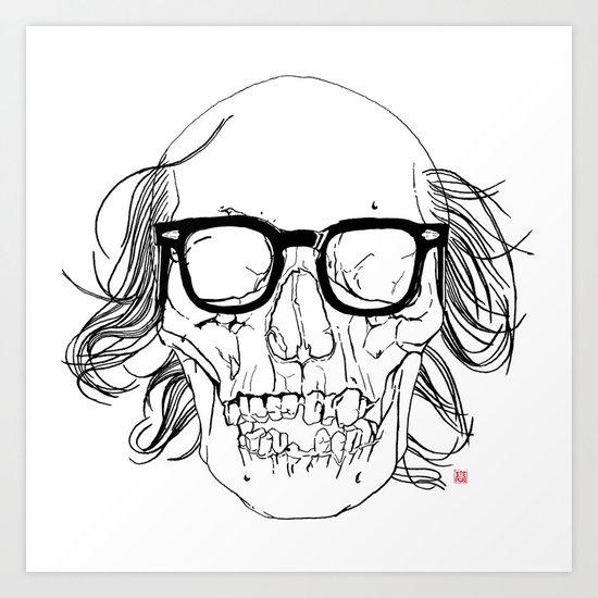 My best friend, Death Art Print