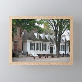 White Clapboard House - Colonial Williamsburg Framed Mini Art Print
