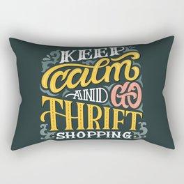 Keep Calm And Go Thrifting Rectangular Pillow