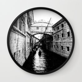 Bridge of Sighs, Venice.  Wall Clock