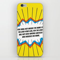 The Third Commandment iPhone & iPod Skin