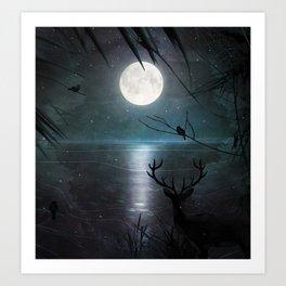Deep inside the forest Art Print