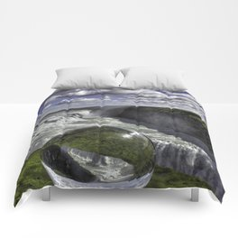 Gulfoss in Crystal Ball 1 Comforters