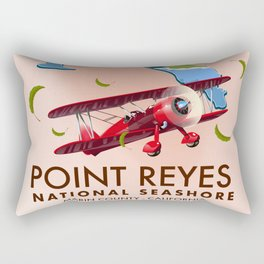 point reyes national seashore travel poster. Rectangular Pillow