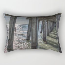 Under the Naples Pier Rectangular Pillow