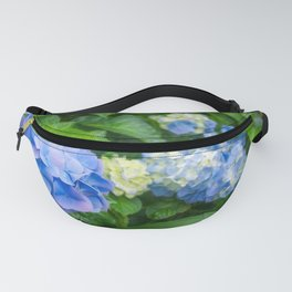 Blue and Yellow Hortensia Flowers Fanny Pack