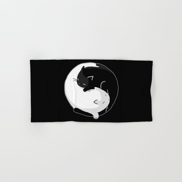 Yin Yang Cats Hand & Bath Towel