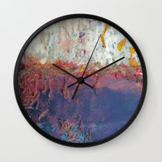 entropic floral dreams Wall Clock