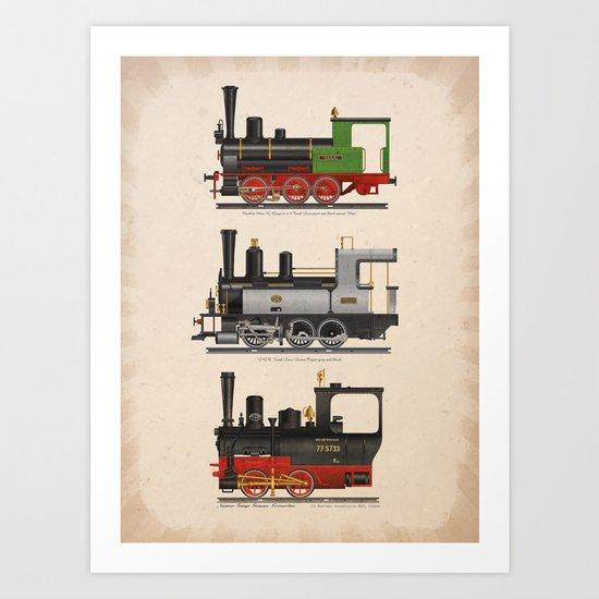 Groovy locomotives Art Print