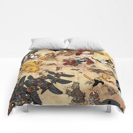 CAT VS MICE Comforters