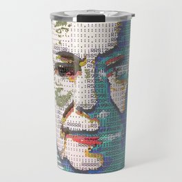 BLUE QUEEN RUG Travel Mug