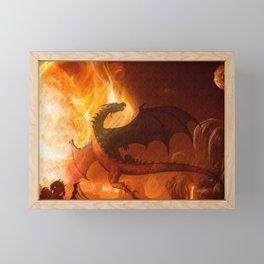 Dragon's world Framed Mini Art Print