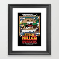 Attack of the Killer Burgers Framed Art Print