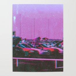 Cyberpunk 80's Parking Aesthetic Poster