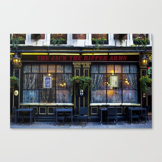 The Jack the Ripper Pub  Canvas Print