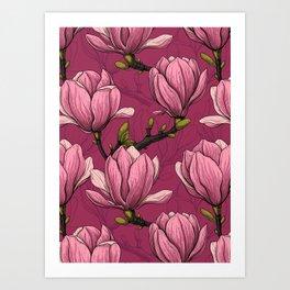 Magnolia garden Art Print
