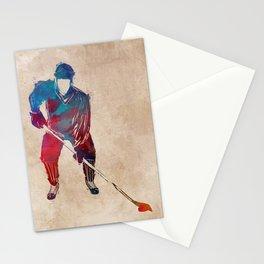 hockey player #hockey #sport Stationery Cards