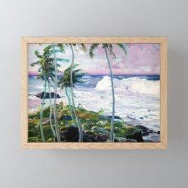 Vintage Tropical Palm Tree Art Framed Mini Art Print