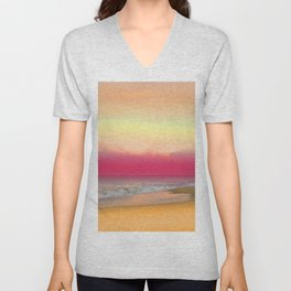 Ocean Reflections 6 Unisex V-Neck