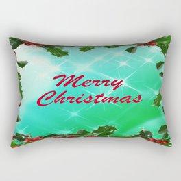 Merry Christmas Design Rectangular Pillow
